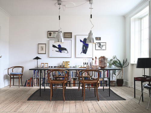 The home of designer Christina Halskov via La Maison d'Anna G