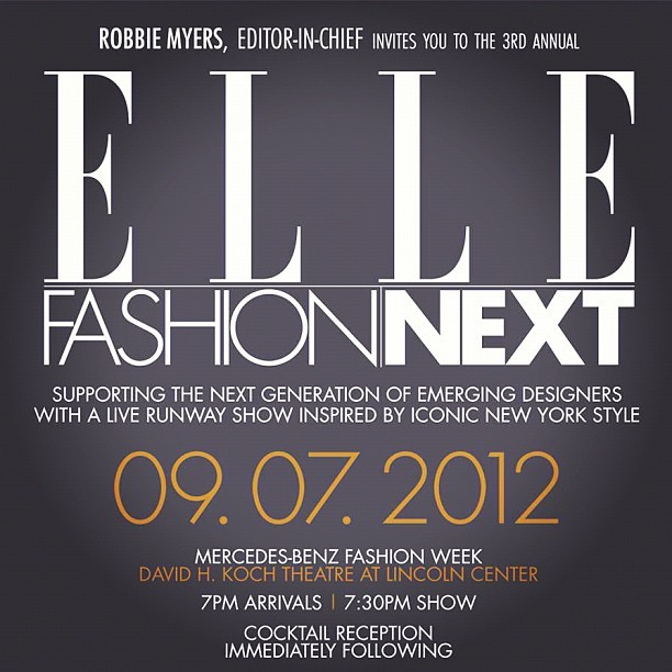 Watch for ROSA NG at ELLE Fashion Next! fashionistodiaries:  One of the most major events I've ever been invited to! #nyfw #mbfw #fashion  (Taken with Instagram)