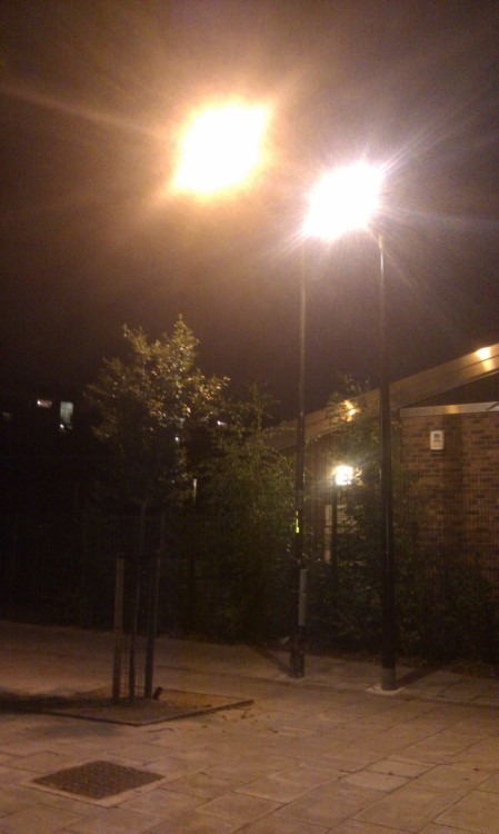 Kennington, South London - Two lampposts, both alike in dignity.