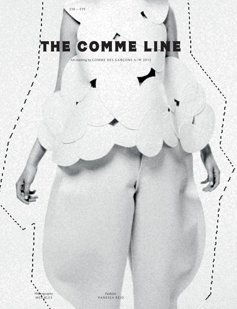 "sfilate:  Franzi Müller in ""The Comme Line"" photographed by Mel Bles for POP A/W 2012"