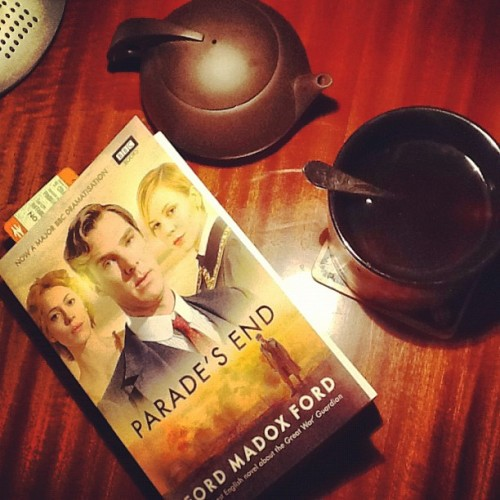 Tonight's mission: finish reading at least the first part of #paradesend before I watch 1st ep tomorrow with girls ^^ Tea will help )) #benedictcumberbatch  (Taken with Instagram at Sani's Place)
