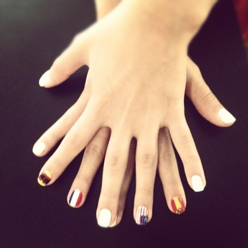 #nails for every country I'll be in over the next 2 weeks. (Taken with Instagram at Primp & Polish)