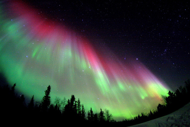 sheknewthestorms:  Powerful Auroral Storm by David Cartier on Flickr.