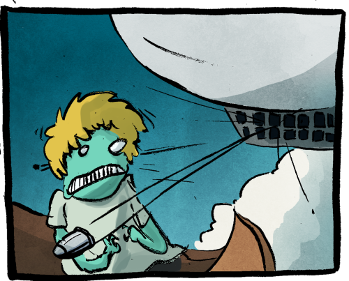 Update! I'd like to take a moment to observe that this is the final page that will be inked with my old brush, my Sceptre Gold II. It has served me well since the beginning of buffet of lies, but it just does not form into a point anymore and it's been hurting the comic. I got a new brush to replace it, but the old one will always hold a special place in my heart.