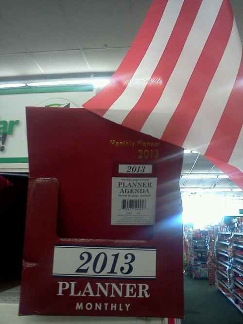 Se the world can't end this year. They already have planners for 2013. And it's under an American. Flag
