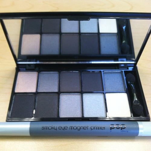 #photoadayaug 23 - #pair - #NYX 10 Color Eyeshadow Palette in Smokey Eyes + #POPBeauty Smoky Eye Magnet Primer = Sultriest eyes ever! (Taken with Instagram)