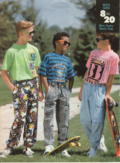 fuckyeah1990s:  From a 1991 Sears catalog   The 90's were terrible for fashion. Lets not revisit this please