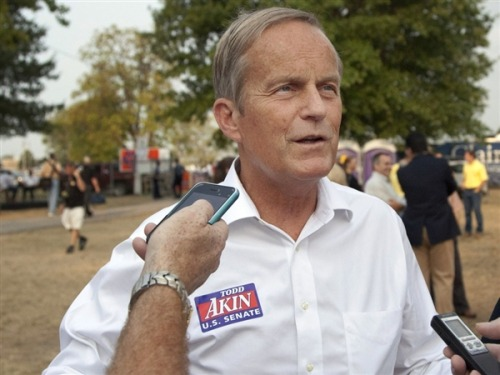 "Akin: 'We're going to be here through the November election' (Photo: Orlin Wagner / AP) Missouri Rep. Todd Akin again rejected dropping out of the Missouri Senate rate amid Republican fears that he's become too politically toxic to win.  ""We're going to be here through the November election, and we're going to be here to win,"" Akin said at a press conference in Missouri arranged on short notice.  Read the complete story."