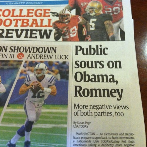 Love that this is a front page above-the-fold headline in USA Today.