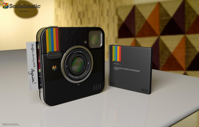Instagram Camera Becoming A Reality If you remember the Instagram Camera concept we posted before, it looks like it's coming a reality!  Today we can update you all on the much anticipated Socialmatic Camera by ADR Studio. We first presented the Instagram Socialmatic Camera concept in May, it resulted in such high demand, that ADR Design actually went out to look for a production partner. They found one and expect to produce the first prototype end of this year, with an official product launch to follow mid 2013. With these news they also present an updated design of the Socialmatic Camera, this time in a slick black version. If you mix the design of the Instagram logo with the general icon look that ADR Studio has given the camera and the new iPhone 5, the result is pretty much the new black version of the Instagram Socialmatic Camera. Here is again the list of functions initially presented: - 16 GB mass storage- Wifi and Bluetooth- 4:3 touchscreen- 2 main lens, first for main capture, second for 3D filters, webcam applications and QR Code capturing- Optical zoom- Led Flash- Internal printer to make your Instagram photos real- Paper cartridge with Instagram Paper Sheets- Dedicated 4 colors ink tanks- InstaOs 1.0, which put together Facebook and Instagram App feature  - Source