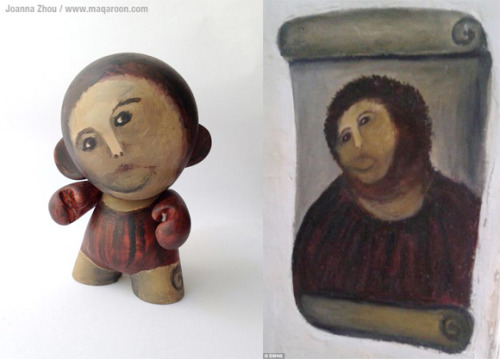 (via Meme-tastic Custom MUNNY Pokes Fun At Epic Fail Fresco Restoration | Kidrobot Blog)