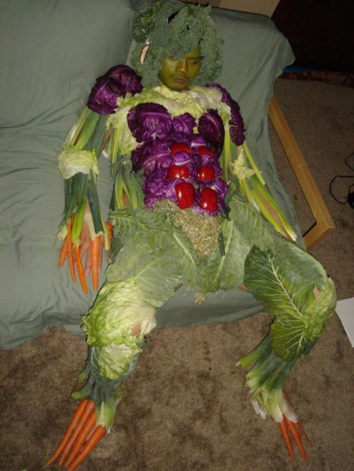 Vegetable Man The sprout pubes are a nice touch.