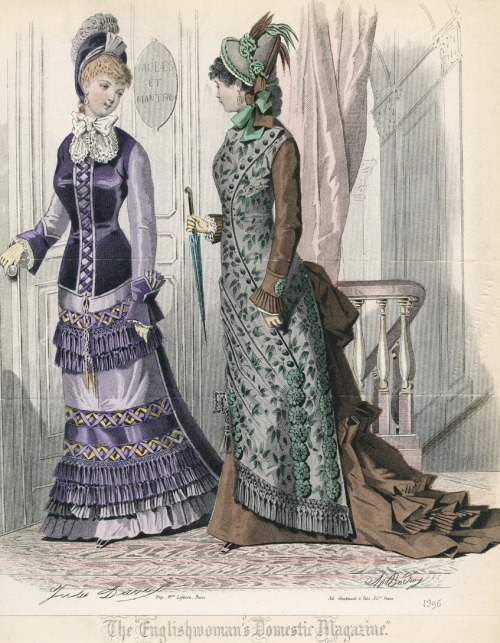 oldrags:  March fashions, 1877 England, The Englishwoman's Domestic Magazine