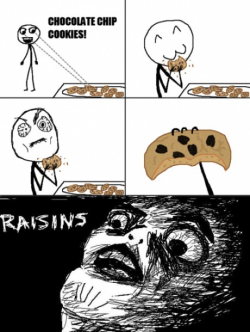 70hsav:  thefuuuucomics:  Raisin cookies…  Hate this shyt