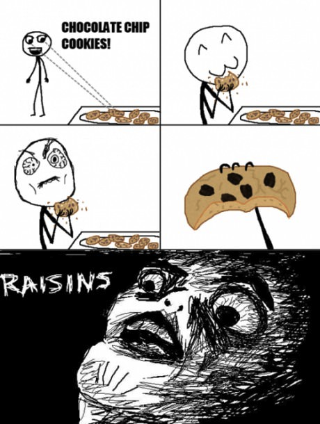 thefuuuucomics:  Raisin cookies…
