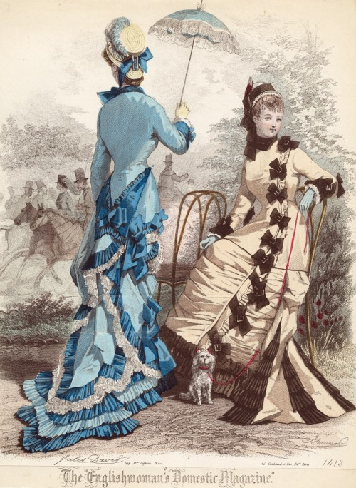 May fashions, 1877 England, The Englishwoman's Domestic Magazine