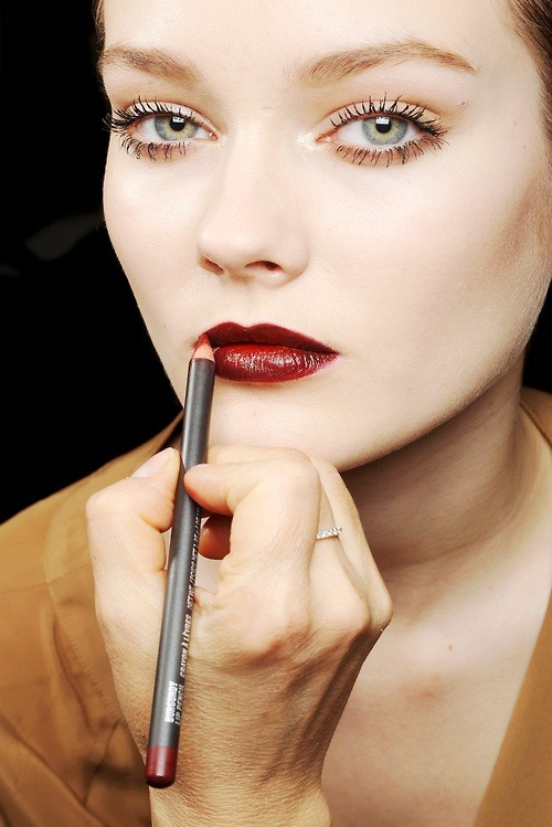 Love the rich colour on the lips.