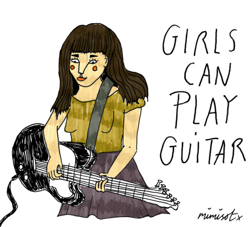 mimisot:  girls can play guitar! x