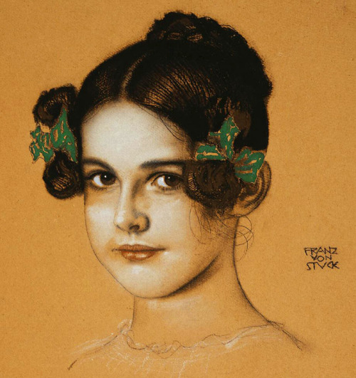 jaded-mandarin:  Portrait of Marie Stuck - Franz von Stuck.