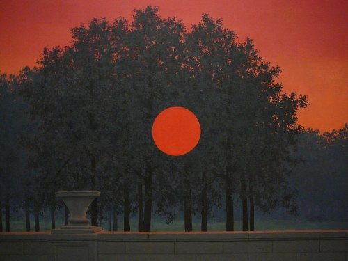 fueradeltiempo:   the banquet, rene magritte, 1958   I think this may be my very favorite work of Rene Magritte.