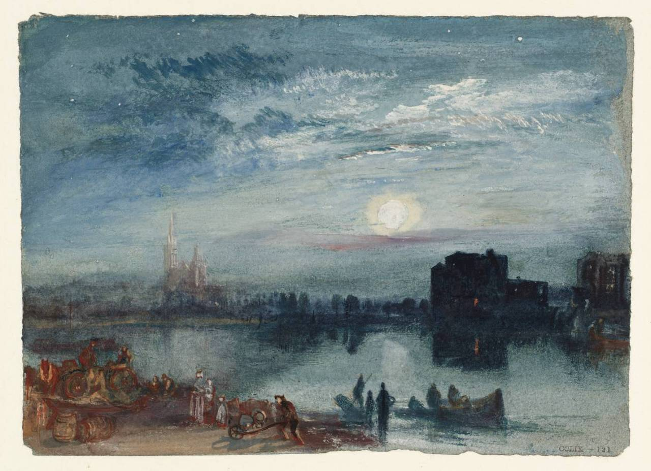 thorsteinulf:  Joseph Mallord William Turner - St-Denis (c.1833)
