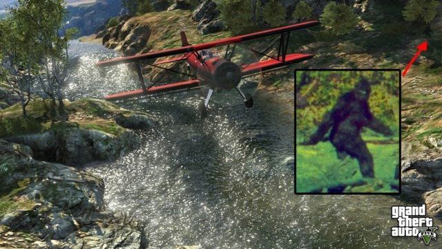They found Big Foot!!! Turns out he's in GTA V