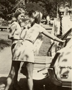 sweetbriarcollege:  1970 Briar Patch- Cars on the Upper Quad