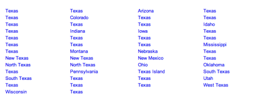 supey:  alphabetical list of all 50 states