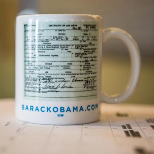 I LOVE everything about this coffee cup!!! It's mocking the birthers, and I find that hilarious! Follow President Barack Obama HERE on Tumblr.  I wonder if Mitt Romney is going to put his tax returns on a coffee mug now…. LOL Buy this AWESOME Made in the USA Barack Obama coffee mug HERE from their store.  DON'T FORGET TO REGISTER TO VOTE!!!! CLICK ——> HERE <—— TO REGISTER   FOLLOW THIS BLOG
