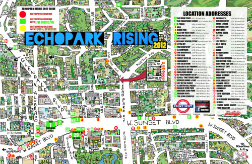 We're nail-bitingly excited about Echo Park Rising which goes down this Saturday, August 25, in LA — a community resurrection of what was once known as Sunset Junction Street Fair. All events are FREE and most are all ages, too. That's our cup of tea. So are the bagpipes you can hear at Stories Books & Cafe, the kids' book hour with Ukelady (is it a lady with a ukelele or a hybrid creature?), and the classic horror flick screening on the roof of a local bank building.