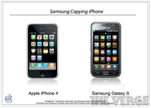 "thisistheverge:  Apple decisively wins Samsung trial: what it means Nilay Patel on what this all means: After two and a half days of deliberations, the Apple vs. Samsung jury returned a decisive verdict in Apple's favor today — holding that Samsung owes Apple $1.05 billion for copying Apple's intellectual property. Specifically, the jury found that all three of Apple's software patents on the iOS user interface were valid and infringed by a long list of Samsung devices, that Apple design patents were valid and infringed by several Samsung phones, and that Apple's trade dress on the iPhone and iPhone 3G were diluted by several Samsung phones as well.  I wasn't surprised by the victory, but I was shocked by just have decisive it was. As Nilay Patel writes, ""There is no way to interpret this as anything but a sweeping, definitive victory for Apple."" As I tweeted yesterday: in all honesty, I don't know if this is good or bad for the industry. But there's no question Samsung were shameless copycats. I mean, just look at the image above. That's not a company trying to make a smartphone like the iPhone, that's a company trying to make the iPhone. They failed, but it wasn't for a lack of trying."