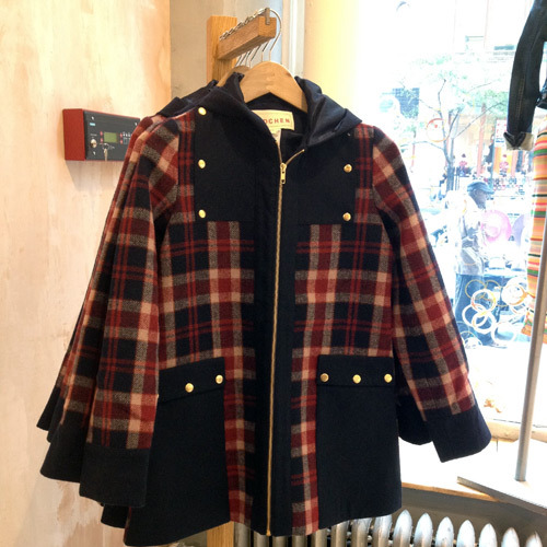 Madchen coat at Anthropologie. I'm guessing this is Lauren Moffatt's (lower price point?) line since it looks exactly like the coat I wanted from her fall collection but is selling for the price of one of her shirts. It's seriously cute but that red plaid is going to clash horribly with my purple (!) pants. What to do?