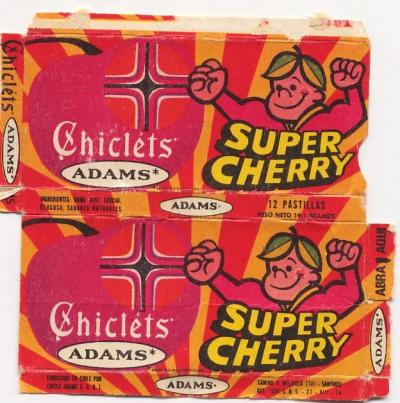 CHICLETS ADAMS SUPER CHERRY - VENEZUELA