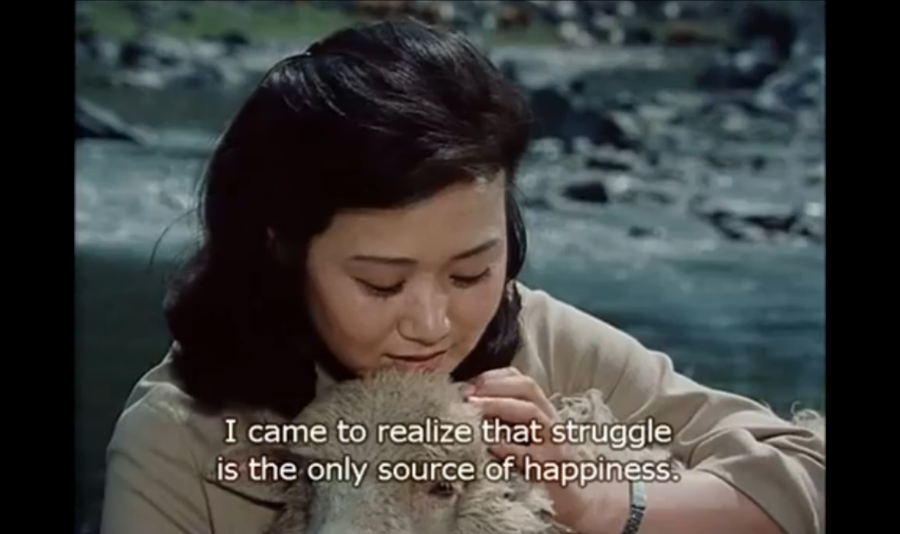 "As the DPRK's most popular film production of the 1980s, ""A Broad Bellflower"" earned lead actress O Mi-ran the honorific title ""People's Actor."""