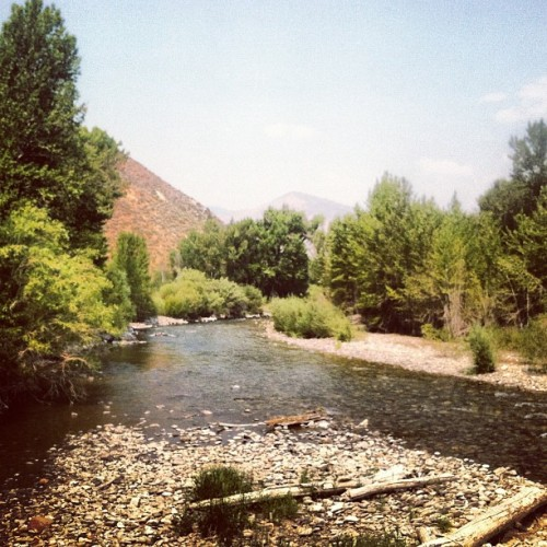 #path of the Big Wood River #photoadayaug  (Taken with Instagram)