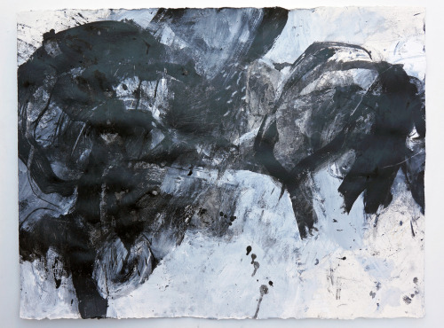 alongtimealone:  Iro no su'ji (2012) Acrylic and charcoal on Arches 300g 560x760mm (by mayakonakamura)