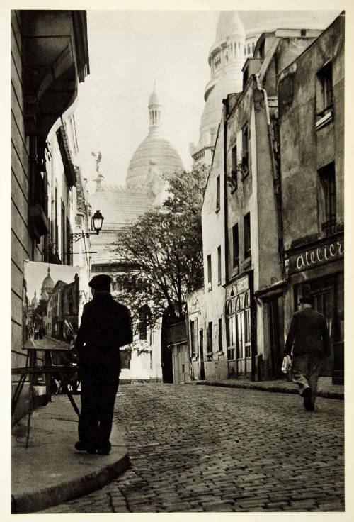 Sacré-Coeur, Place Du Tertre, Paris, 1950s by Sanford H. Roth