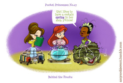 Pocket Princesses 27: Behind the Frocks. Reblog please, don't repost.