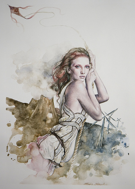 Maria_water color on paper,2009. by CAKTUS&MARIA on Flickr.