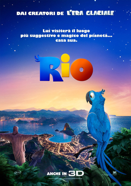 Rio, often promoted as Rio: The Movie or The Rio Movie, is a 2011 American 3D computer-animated musical comedy film produced by Blue Sky Studios and directed by Carlos Saldanha.