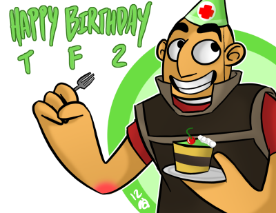 artisticallyinsaneblog:  happy birthday tf2 <3