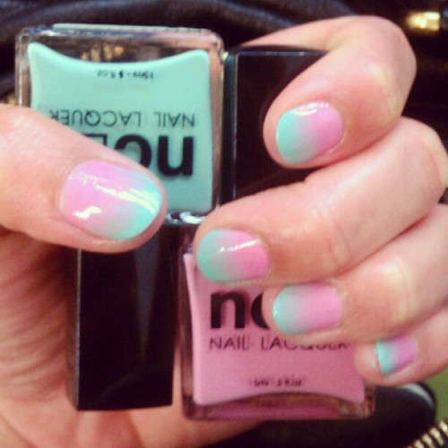 nailinghollywood:  Another view of ombre mani featured on Life Style Mirror! Using @shopncla colors.  Check out other great ombre manis on www.lifestylemirror.com   (Taken with Instagram)