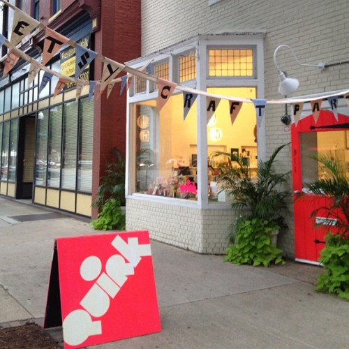 @etsy #craftparty 2012 at Quirk Gallery in Richmond Instagram @lauratrevey