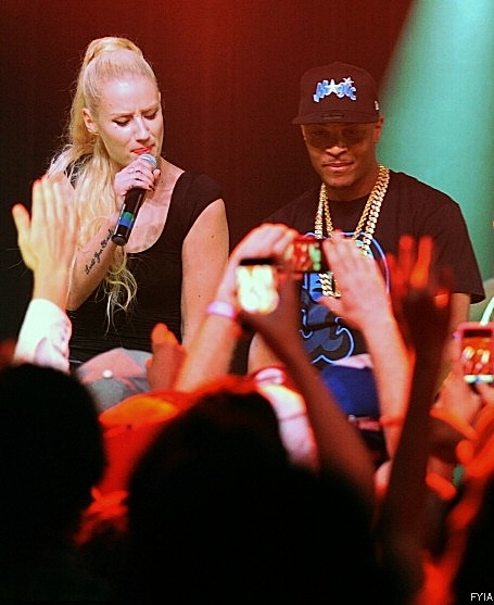 Iggy and T.I performing at Terminal West in Atlanta last night ~ 8.23.12
