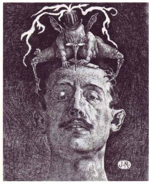 h0llow-eyes:  (via MONSTER BRAINS: Julio Ruelas - Las Critica, 1906)
