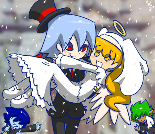 axl-fox:  30 Day OTP Challenge day 26 Getting Married OH HELLO LOOK AXL IS NOT DEAD YET  sprry for making this one so late…like … 2 weeks late, my computer kind of died and I've been unable to draw all these days BELIEVE ME IT WAS THE MOST AGGRAVIATING WEEK EVER.