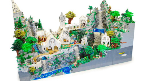 mama-knows:  LEGO Rivendell made by some guys. Can you imagine if they made this a set?