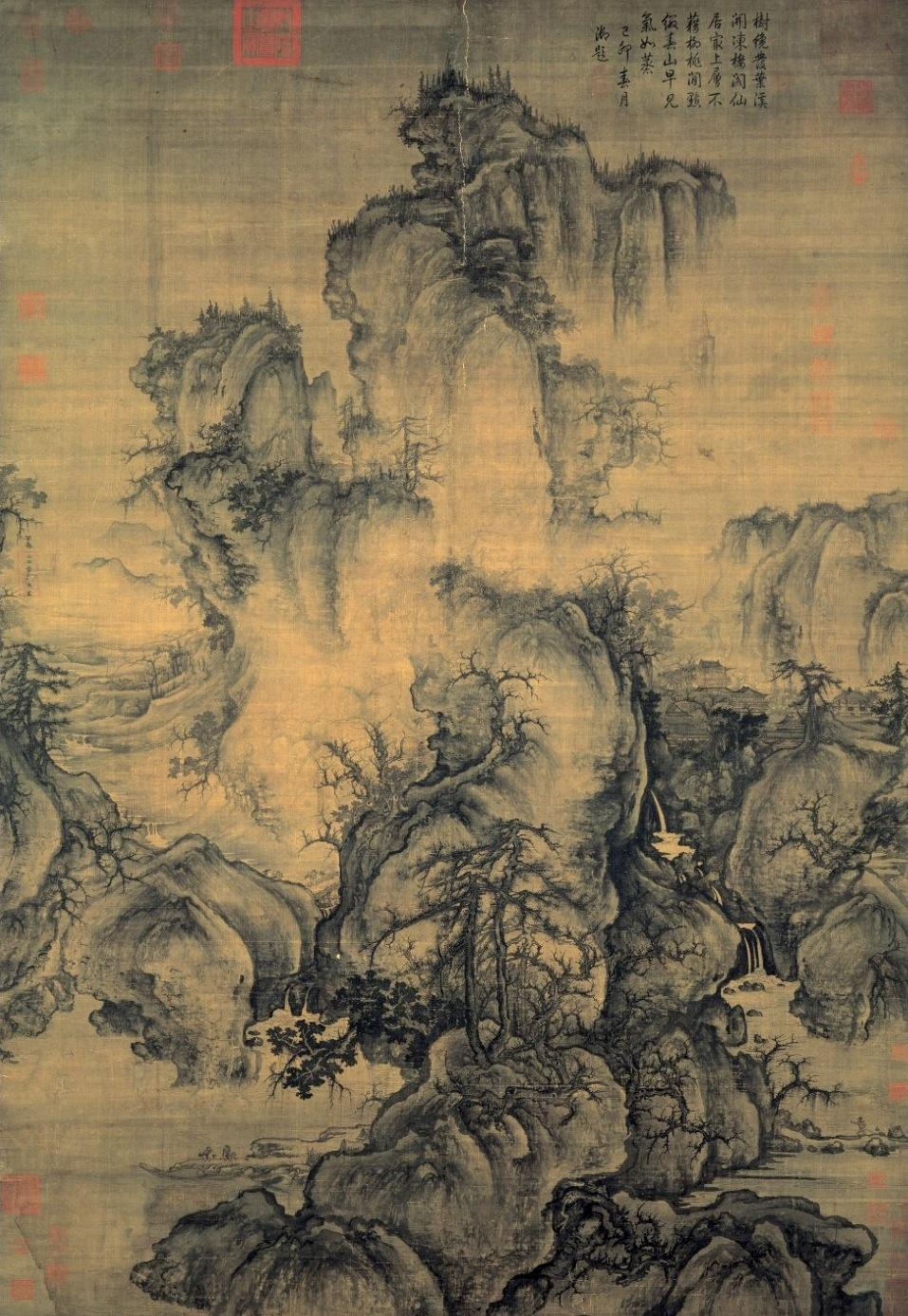 ancientart:  Early Spring, Guo Xi, Ancient Chinese Northern Song Dynasty, ink and light colour on silk.