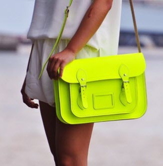 ramp-vogue:  neon fashion trends here:) dont change the source thanks <3  i love this bag so so so much