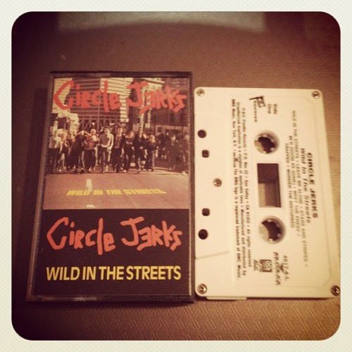 "#circlejerks ""wild in the streets"" #tape #frontier #LA #punk (Taken with Instagram at Hard Press Headquarters Lynwood California)"